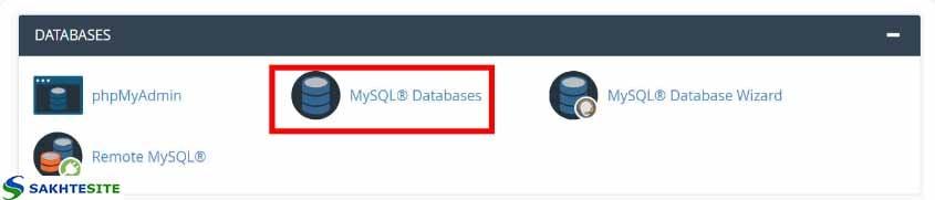 ساخت پایگاه داده در نصب ورد پرس